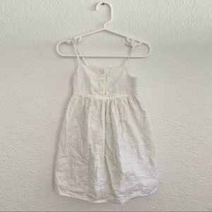 GAP Baby White Spaghetti Strap Dress w/Crochet